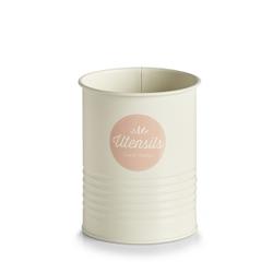 Zeller Utensilienhalter, creme/rosé, Aufbewahrungsdose für Küchenartikel, Maße: ca. Ø 11,2 x 15 cm
