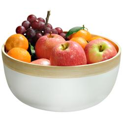 Kesper Gebäckschale Bambus, weiß, Eignet sich ideal zum Servieren von Obst oder Süßigkeiten, Maße (H x B x T): 12 x 25 x 25 mm