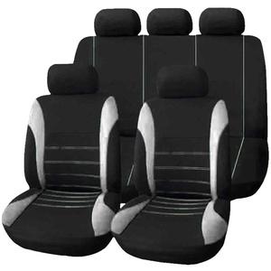 HotYou Auto Sitzbezug Set Polyester 9 Stück Auto Zubehör Automotive Stuhl Fall Protector,Herausnehmbar und waschbar,Grau