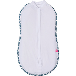 Pucktuch zip&swaddle - Größe 1 (2,5-5kg) mit Öko-Tex Standard 100 - blau classics