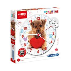 Clementoni® Puzzle Clock Puzzle 96 Teile - Süßes Hündchen, Puzzleteile