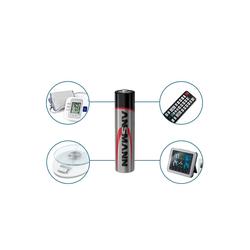 ANSMANN® Batterien AAA 80 Stück - Alkaline Micro Batterie für Lichterkette uvm. Batterie