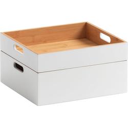Zeller Present Aufbewahrungsbox weiß Boxen Truhen, Kisten Körbe Schlafzimmer Aufbewahrungsboxen