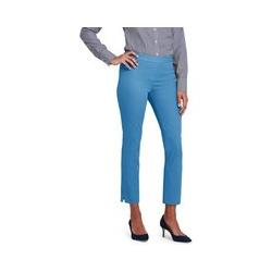 7/8-lange Bi-Stretch-Hose, Damen, Größe: M Normal, Blau, Leinen, by Lands' End, Antikes Blau - M - Antikes Blau
