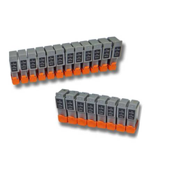 vhbw 20x Tintenpatronen Druckerpatronen Patronen passend für CANON BCI-21BK BCI-24BK BCI-21C BCI-24C