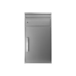 SafePost Briefkasten Paketbriefkasten SafePost 65M silber Ral 9006 Design-Paketkasten modern
