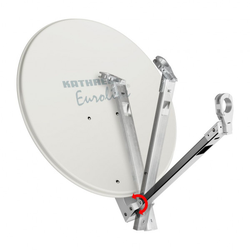Sat-Anlage KEA 650 G weiß mit klappbarem LNB-Arm