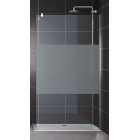 Home Deluxe Navaa 6 Duschtrennwand 80 x 190 cm Lotuseffekt Milchglasstreifen