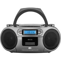 ECG CDR 999 (DAB) (DAB), / FM-Radio mit CD/Kassetten-Player, Silver
