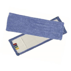Wischmop Microfaser blau mit Farbcodierung 40 cm