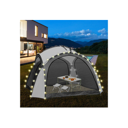 ML-DESIGN Pavillon LED Event Pavillon weiß/grau, 3.5x3.5x2.3 m