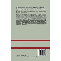 Plasma Spray of Metallic  Ceramic Mater als Buch von Matejka/ Benko
