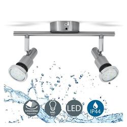 B.K.Licht Deckenleuchte BKL1136, LED Deckenleuchte Bad-Deckenlampe Badezimmerleuchte Badezimmerlampe Deckenstrahler inkl. 2 x 5W Leuchtmittel je 400lm IP44