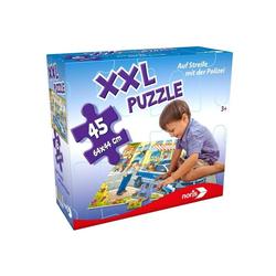 Noris Puzzle XXL Puzzle Auf Streife mit der Polizei. 45 Teile, Puzzleteile