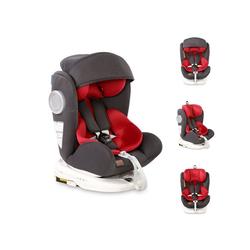 Lorelli Autokindersitz Kindersitz Lusso, SPS, Isofix, Gruppe 0+/1/2/3, 9.5 kg, (0-36 kg), Sitz drehbar grau