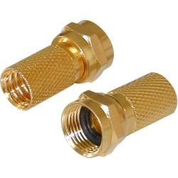 Vergoldeter F-Stecker mit Dichtung, vergoldet SAT Kabel-Durchmesser: 7mm