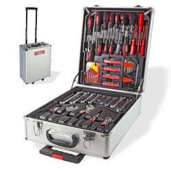 Alu Werkzeugkoffer mit Werkzeug Alukoffer Trolley Koffer 251tlg Werkzeugset