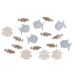 Rayher Holz-Streudeko Fische und Korallen 20 St.