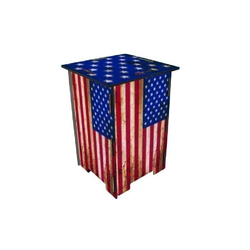 WERKHAUS® Hocker Photo-Hocker 295 x 295 x 420 mm, Fotohocker 141 - Flagge USA 29.50 cm x 42.00 cm x 29.50 cm