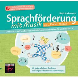 Sprachförderung mit Musik zu Paulas Reisen - CD Extra