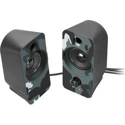 Speedlink DAROC Stereo Lautsprecher schwarz PC-Lautsprecher blau