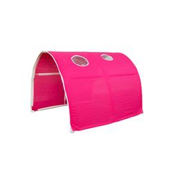 Homestyle4u Betttunnel Tunnel Bogen Zelt Bettzelt für Kinderbett rot