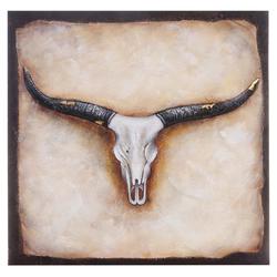 Ölgemälde Stier, 100% handgemaltes Wandbild Gemälde XL, 100x100cm