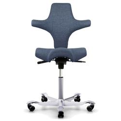 HAG CAPISCO 8106 Bürostuhl mit Sattelsitz Stoff Remix 733 blau - Gestell silber
