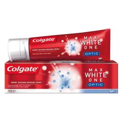 Colgate Zahncreme Max White One, 75 ml - Tube, Optic - mit intensiv wirkenden Reinigungskristallen