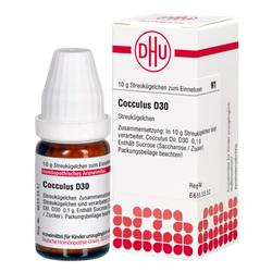 COCCULUS D 30 Globuli 10 g