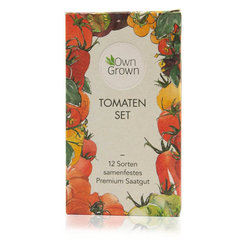OwnGrown Kräuterbeet Tomaten Set - 12 Sorten samenfestes Premium Saatgut (12 Stück)