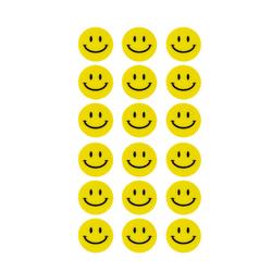 180 Smiley Sticker Aufkleber Lächeln Emoji Smily Face Faces - gelb