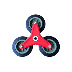 Midori Treppensackkarre, (1-St), Ersatzrad Treppensackkarrenrad sternförmiger Reifen Vollgummi