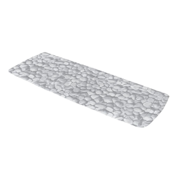 Kleine Wolke Wanneneinlage Stepstone in grau, 36 x 92 cm