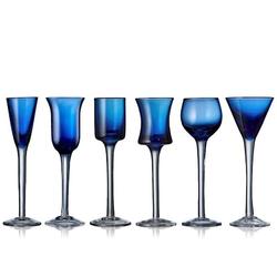 Lyngby Glas Schnapsglas 6 st Blau