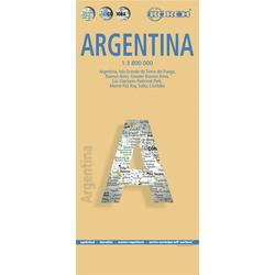 Argentina / Argentinien 1 : 3 800 000. Road Map