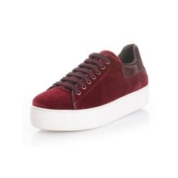 Alba Moda Sneaker aus weichem Samttextil 35