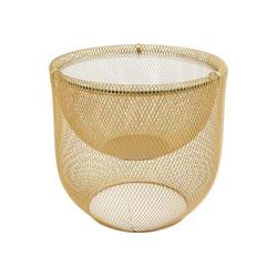 KARE Beistelltisch Couchtisch Grid Gold 55cm
