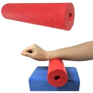 yinyinpu Rückenrolle Faszienrolle Wirbelsäule Schaumstoffrolle Schaumstoffrolle für Tiefe Gewebemuskelmassage Turnhallenrolle Große Schaumstoffrolle red,28.5cm