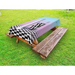 Abakuhaus Tischdecke dekorative waschbare Picknick-Tischdecke, Synthwave Vaporwave Säule Cubes 145 cm x 305 cm
