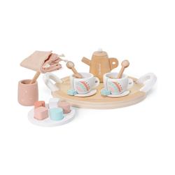 Miniland Spielgeschirr Teegeschirr Set aus Holz