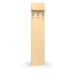 Garderobenwand, 3 kleiderhaken, birke