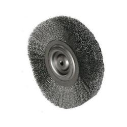 Rundbürste Durchmesser 150 mm, Bohr.14 mm Gewellter V2A Draht 0,3 mm