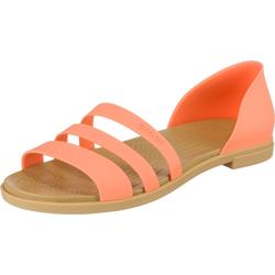 Crocs Crocs Tulum Open Flat W Komfort-Ballerinas Kuschel-Ballerinas orange 36/37
