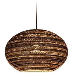 think paper Hängeleuchte Lazy 290, Style Papierleuchte, Designer Deckenlampe, umweltfreundliche LED Lampe, LED Deckenleuchte aus Papier, Hängeleuchte einzigartig