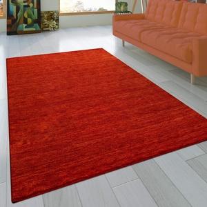 Paco Home Teppich Handgeknotet Gabbeh Hochwertig 100% Wolle Dezent Meliert Terrakotta, Grösse:10x10 cm Musterstück
