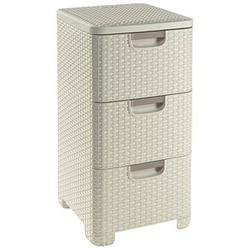 curver STYLE Aufbewahrungsboxen 3x14,0 l beige 32,8 x 37,8 x 60,0 cm