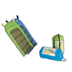 dynamic24 Kinderschlafsack, Junior Kinder Schlafsack Monster Decke 170cm Kinderschlafsack Camping Outdoor