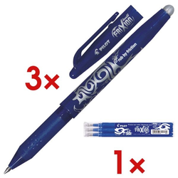 »FriXion Ball 0.7« 3er Vorrats-Set blau, Pilot
