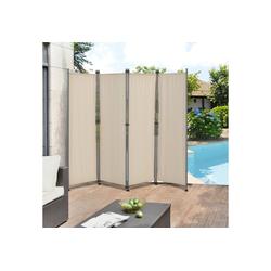 Pro-tec Standmarkise Outdoor Trennwand 170 x 215cm Paravent Beige gelb